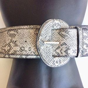 Snakeskin Belt Self Fabric Buckle Size SM